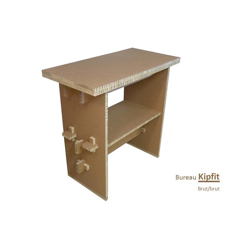 Meuble carton, bureau debout brut