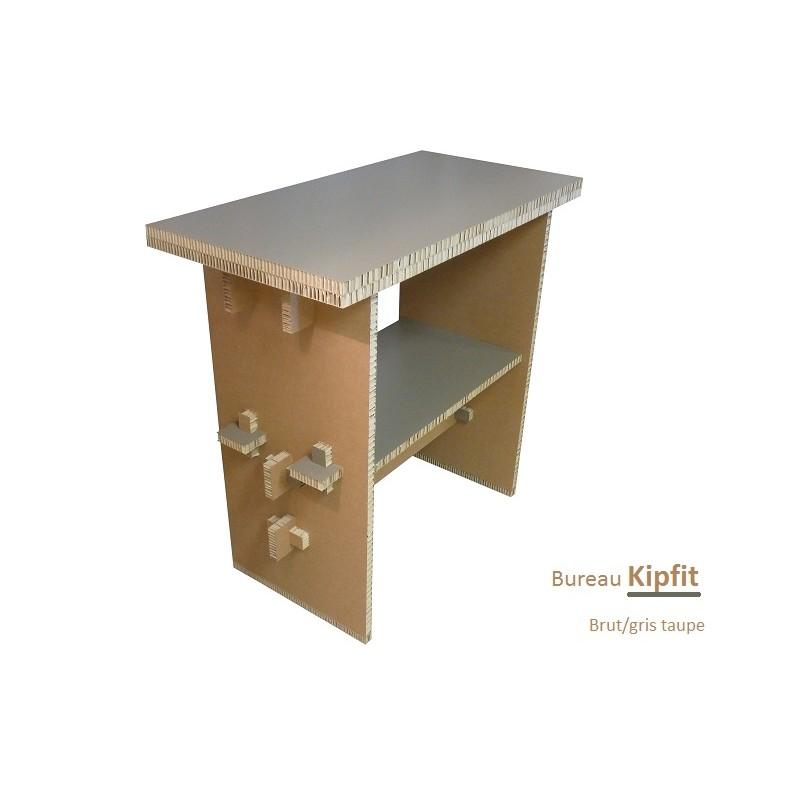 Meuble carton, bureau debout gris