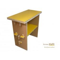 Meuble carton, bureau debout jaune