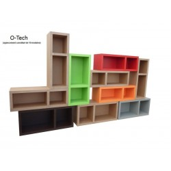 Exemple d'assemblage de meubles en carton O-tech